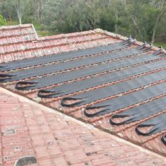 Strip Solar Pool Heating Installation